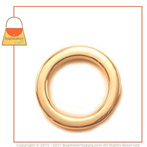 Representative Image of 3/4 Inch Flat Cast O Ring, Gold Finish