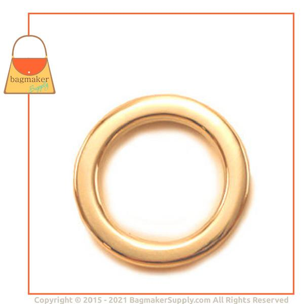 3/4 Inch Flat Cast O Ring, Gold Finish Detail Page