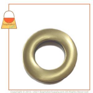 Representative Image of 7/8 Inch Round Screw Back Eyelet, Antique Brass Finish