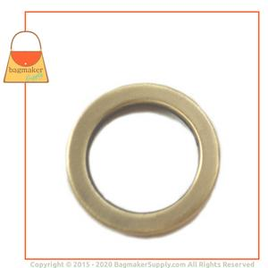 Representative Image of 3/4 Inch Flat Cast O Ring, Antique Brass Finish