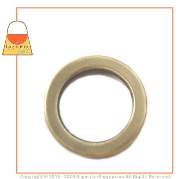 Representative Image of 3/4 Inch Flat Cast O Ring, Antique Brass Finish (RNG-AA060))