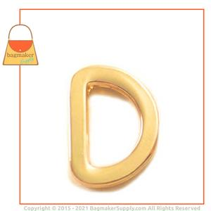 Representative Image of 1/2 Inch Flat Cast D Ring, Gold Finish