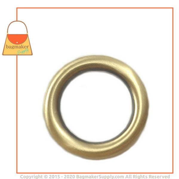 Representative Image of 1 Inch Cast O Ring, Light Antique Brass / Antique Gold Finish (RNG-AA063))