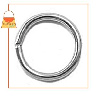 Representative Image of 5/8 Inch Wire Formed O Ring, Not Welded, Nickel Finish