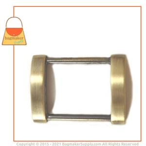 Representative Image of 1 Inch Arched Edge Rectangle Ring, Antique Brass Finish