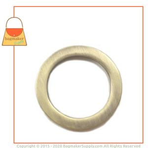 Representative Image of 1 Inch Flat Cast O Ring, Antique Brass Finish