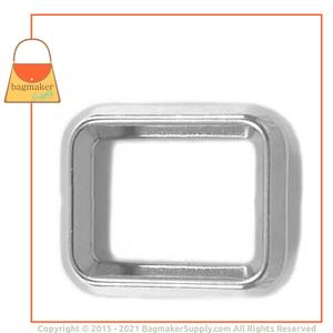 Representative Image of 1 Inch Beveled Edge Rectangle Ring, Nickel Finish