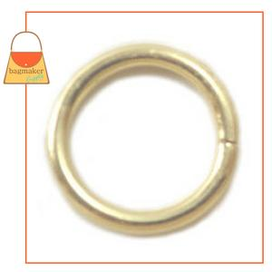Representative Image of 1/2 Inch Wire Formed O Ring, Not Welded, Brass Finish