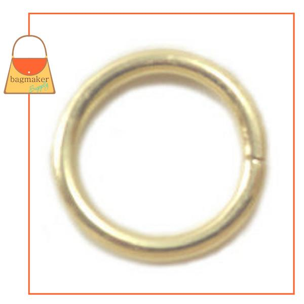 Representative Image of 1/2 Inch Wire Formed O Ring, Not Welded, Brass Finish (RNG-AA068))