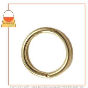 Representative Image of 5/8 Inch Wire Formed O Ring, Not Welded, Brass Finish
