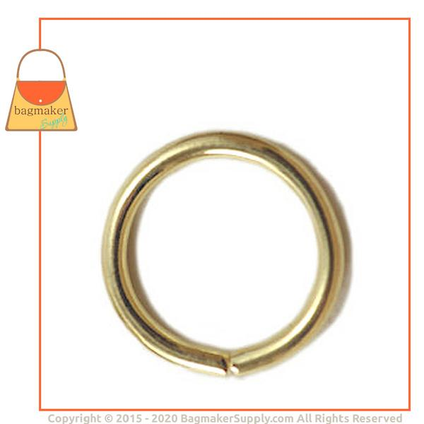 Representative Image of 5/8 Inch Wire Formed O Ring, Not Welded, Brass Finish (RNG-AA069))