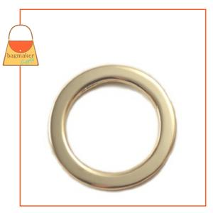 Representative Image of 1 Inch Flat Cast O Ring, Gold Finish