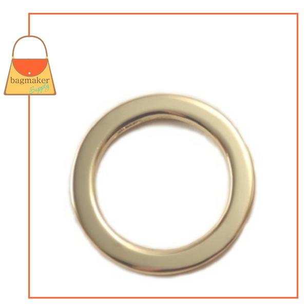 Representative Image of 1 Inch Flat Cast O Ring, Gold Finish (RNG-AA071))