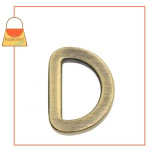 Representative Image of 1/2 Inch Flat Cast D Ring, Antique Brass Finish