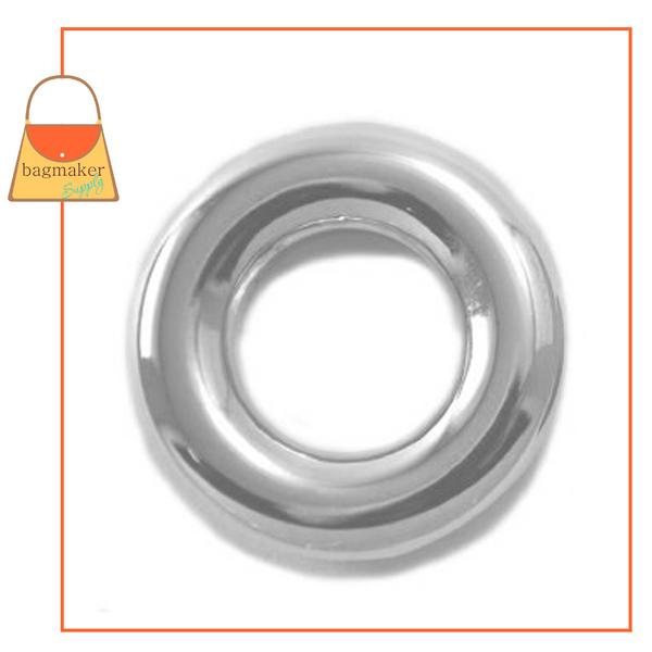 Representative Image of 5/8 Inch Round Force Fit Eyelet, Nickel Finish (EGR-AA021))