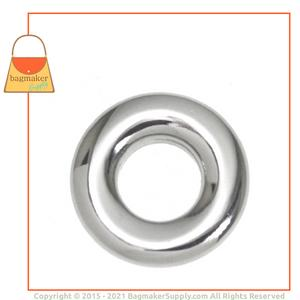 Representative Image of 3/8 Inch Round Force-Fit Eyelet, Nickel Finish