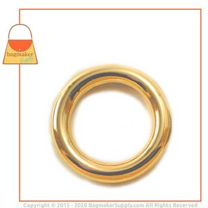 Representative Image of 1 Inch Cast O Ring, Italian Made, Gold Finish