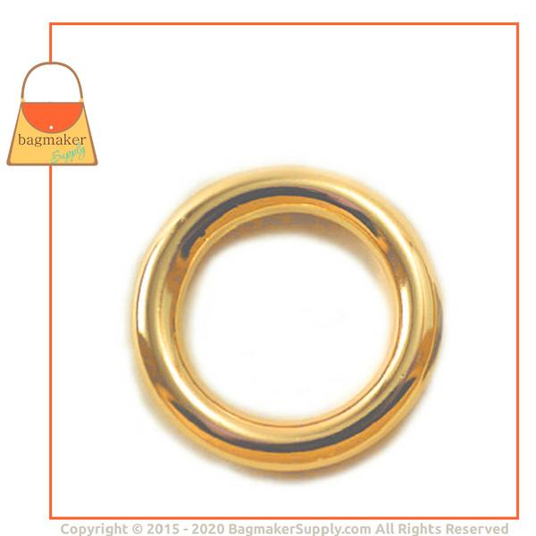 Representative Image of 1 Inch Cast O Ring, Italian Made, Gold Finish (RNG-AA073))