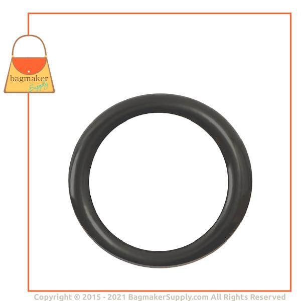 Representative Image of 1 Inch Cast O Ring, Italian Made, Dark Gunmetal Finish (RNG-AA074))
