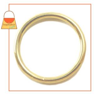 Representative Image of 1 Inch Wire Formed O Ring, Brass Finish, Not Welded