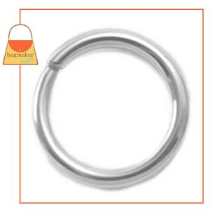 Representative Image of 1/2 Inch Wire Formed O Ring, Nickel Finish, Not Welded