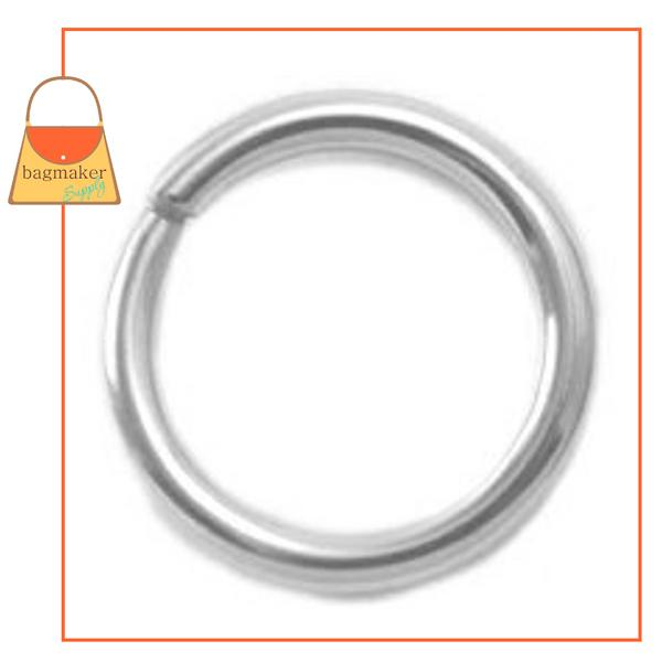Representative Image of 1/2 Inch Wire Formed O Ring, Not Welded, Nickel Finish (RNG-AA076))