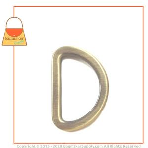 Representative Image of 1 Inch Flat Cast D Ring, Antique Brass Finish