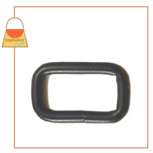 Representative Image of 1 Inch Wire Formed Rectangle Ring, Welded, Black Satin Finish