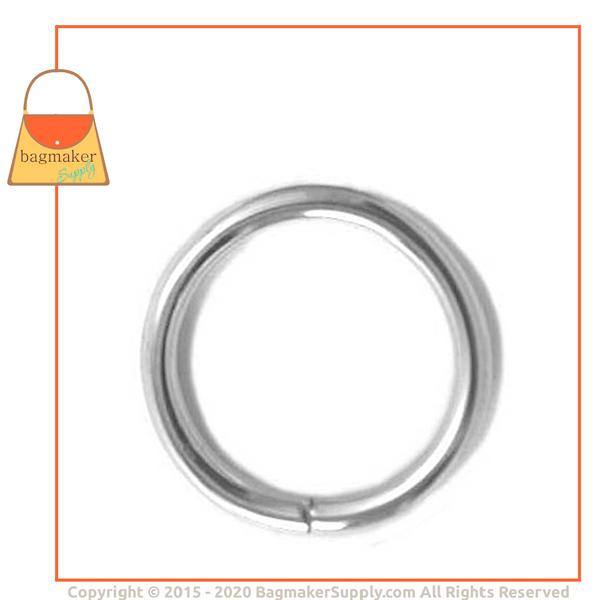 Representative Image of 3/4 Inch Wire Formed O Ring, Nickel Finish, Not Welded (RNG-AA079))