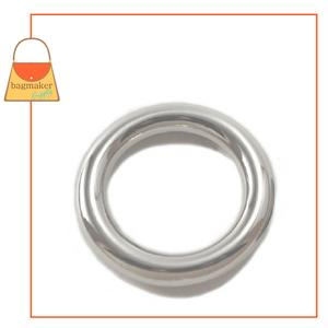 Representative Image of 1 Inch Cast O Ring, Nickel Finish, Italian Made