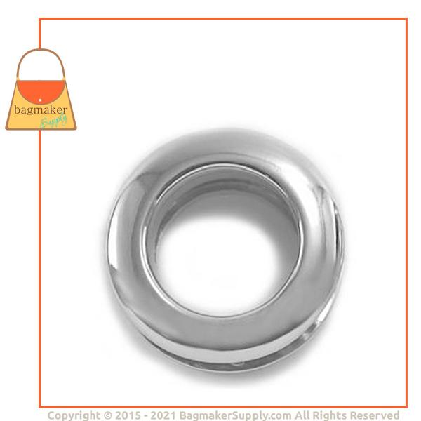 Representative Image of 7/8 Inch Round Force-Fit Eyelet, Nickel Finish (EGR-AA023))
