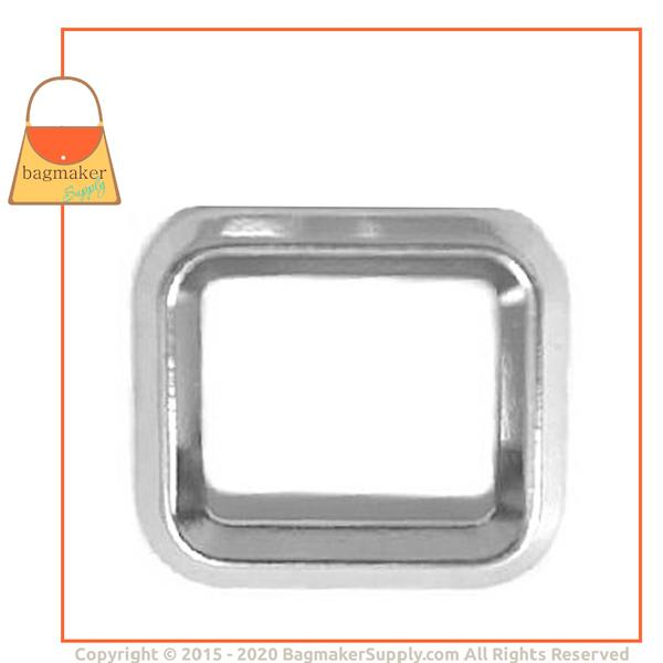 Representative Image of 3/4 Inch cast Beveled Edge Rectangle Ring, Nickel Finish (RNG-AA081))