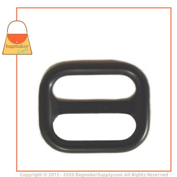 Representative Image of 1 Inch Indented Bar Slide, Black Satin Finish (SLD-AA022))