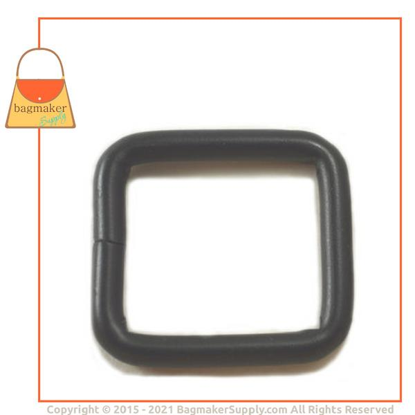 Representative Image of 1 Inch Wire Formed Square Ring, Welded, Black Satin Finish (RNG-AA083))