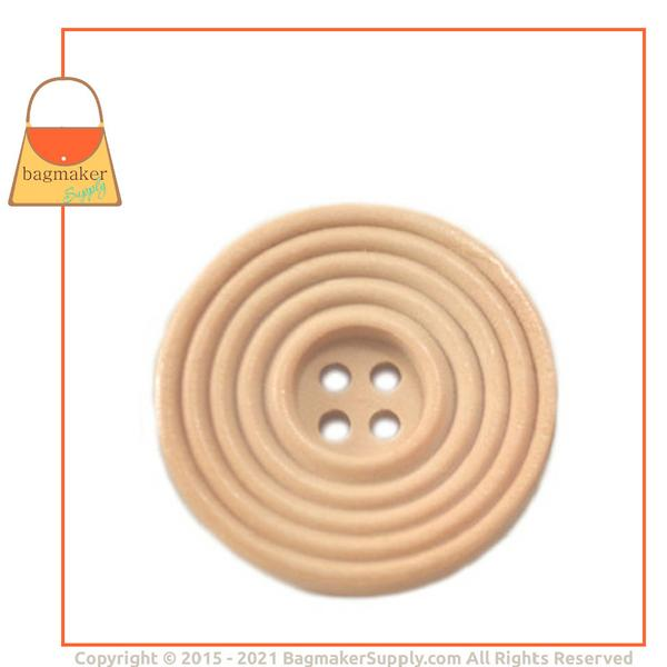 Representative Image of 1-1/8 Inch Wood Button, Blond Maple Finish (BTN-AA004))