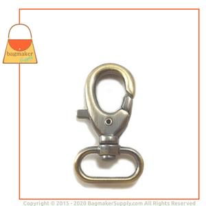 Representative Image of 1 Inch Lobster Claw Swivel Snap Hook, Antique Brass Finish