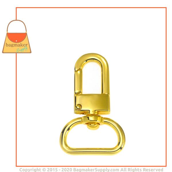 Representative Image of 3/4 Inch Lobster Claw Swivel Snap Hook, Gold Finish (SNP-AA014))