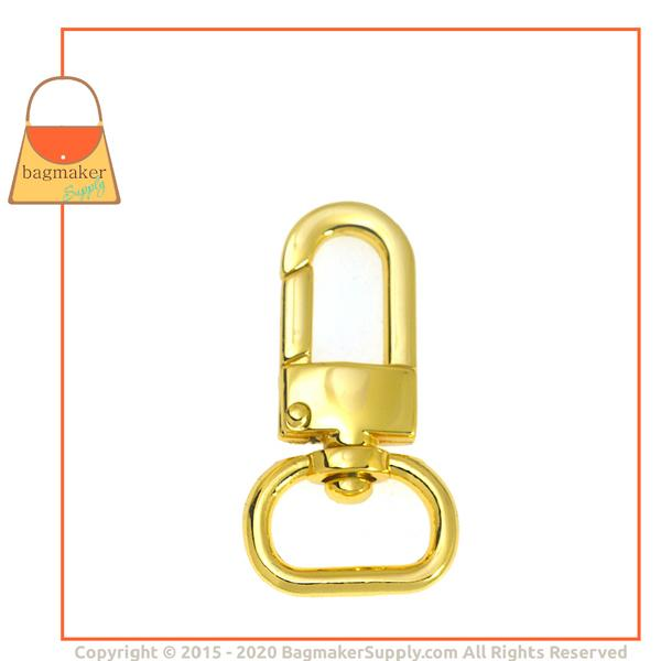Representative Image of 5/8 Inch Lobster Claw Swivel Snap Hook, Gold Finish (SNP-AA015))