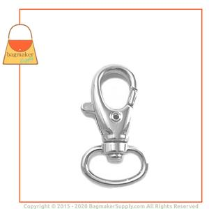 Representative Image of 1/2 Inch Lobster Claw Swivel Snap Hook, Nickel Finish