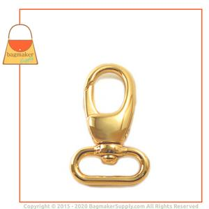 Representative Image of 3/4 Inch Lobster Claw Swivel Snap Hook, Gold Finish