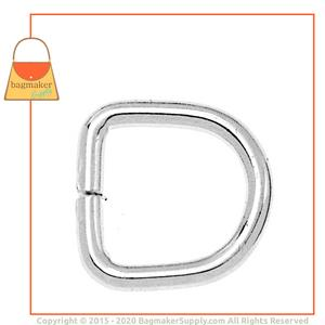 Representative Image of 3/8 Inch Wire Formed D Ring, Not Welded, Nickel Finish
