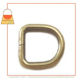 Representative Image of 3/8 Inch Wire Formed D Ring, Not Welded, Antique Brass Finish