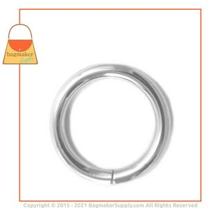 Representative Image of 1 Inch Wire Formed O Ring, Welded, Nickel Finish