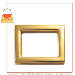 Representative Image of 15/16 Inch Flat Cast Rectangle Ring, Gold Finish