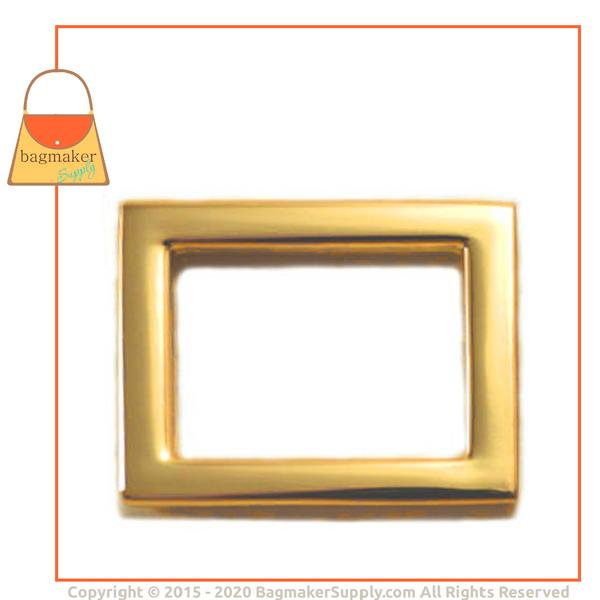 Representative Image of 15/16 Inch Flat Cast Rectangle Ring, Gold Finish (RNG-AA094))