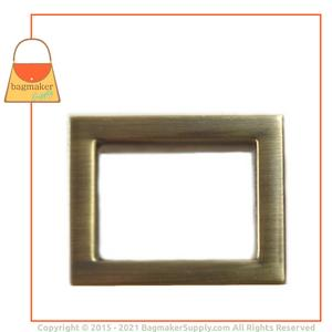 Representative Image of 15/16 Inch Flat Cast Rectangle Ring, Antique Brass Finish