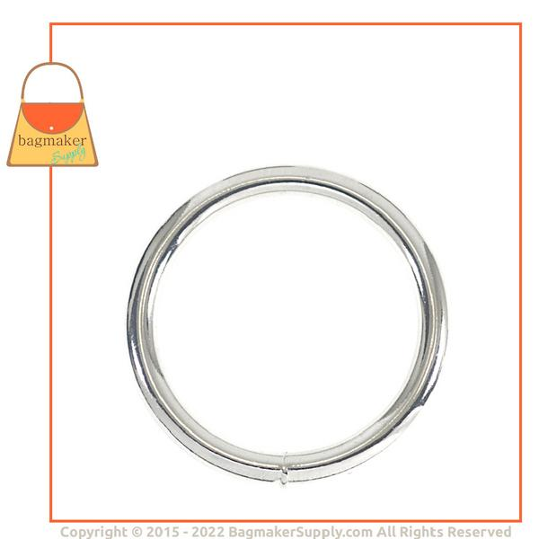 Representative Image of 1-3/4 Inch Wire Formed O Ring, Welded, Nickel Finish (RNG-AA096))