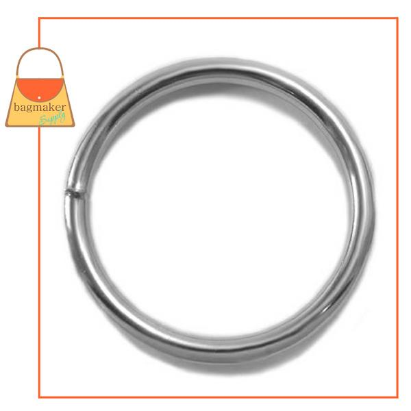 Representative Image of 3 Inch Wire Formed O Ring, Welded, Nickel Finish (RNG-AA097))