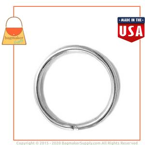 Representative Image of 1-1/4 Inch Wire Formed O Ring, Not Welded, Nickel Finish