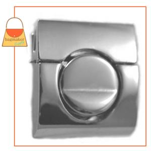 Representative Image of 1-1/4 Inch Square Tuck Catch Clasp, Nickel Finish